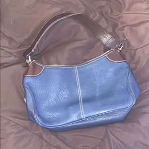 D&B blue and brown shoulder bag